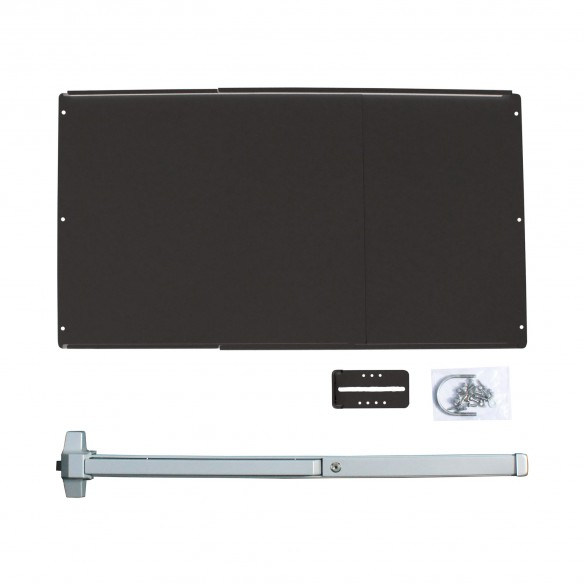 Chain Link DAC Standard Exit Bar Kit w/ Black Adjustable Mounting Plate (Stainless Steel)