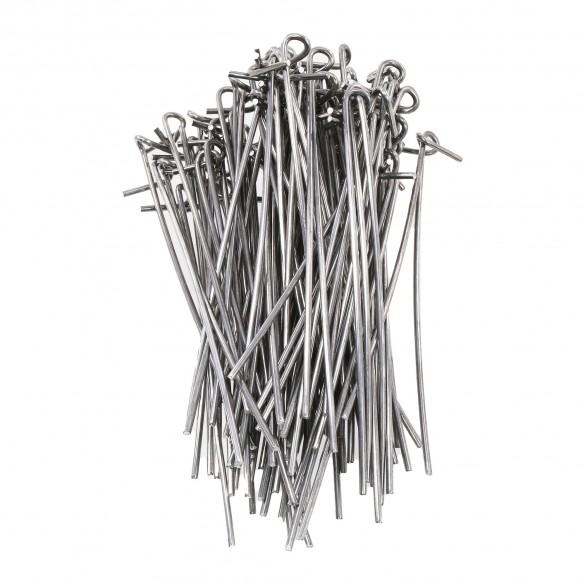"""8 1/4'' Aluminum Fence Ties for Chain Link (Bag of 100) Fits 2 1/2"""" Posts"""