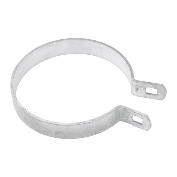 "Chain Link 4"" Brace Band [12 Gauge] - Rail End Band (Galvanized Steel)"
