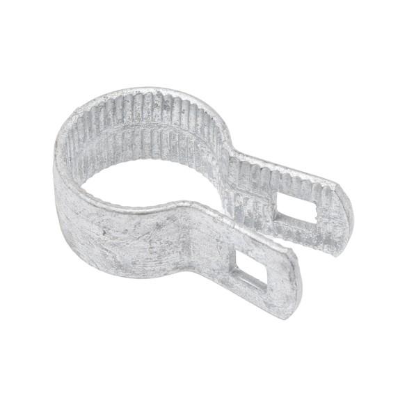 "Chain Link 1 3/8"" Beveled Brace Band [12 Gauge] - Rail End Band (Galvanized Steel)"