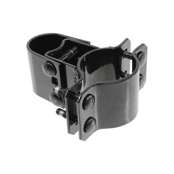 "Chain Link 3"" [2 7/8"" OD] Black Box Hinge (Pressed Steel)"