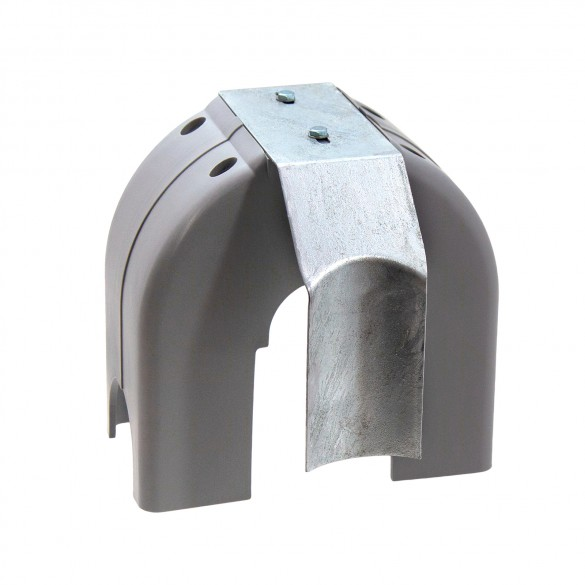 Chain Link Universal Heavy-Duty Safety Cantilever Gate Roller Cover Guard w/ Bracket for Top And Bottom Rollers (Steel)