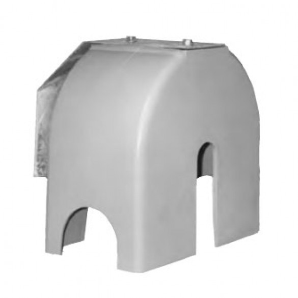 Chain Link Universal Protective Roller Cover Guard for Bottom Gate Rollers - Safety Cover (Polyethylene)