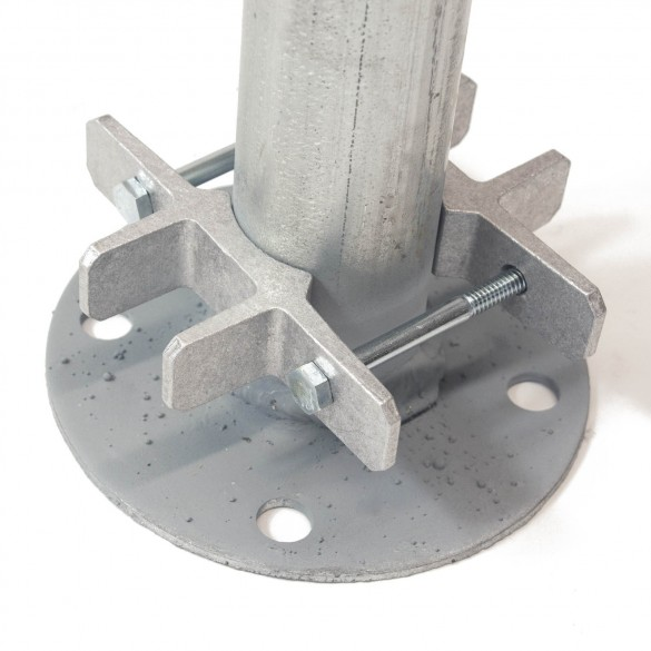 "Bufftech 5"" x 5"" Post EZ Set Brackets for 1 7/8"" or 2"" Round Posts (Pair) - Installation Shown As Example"
