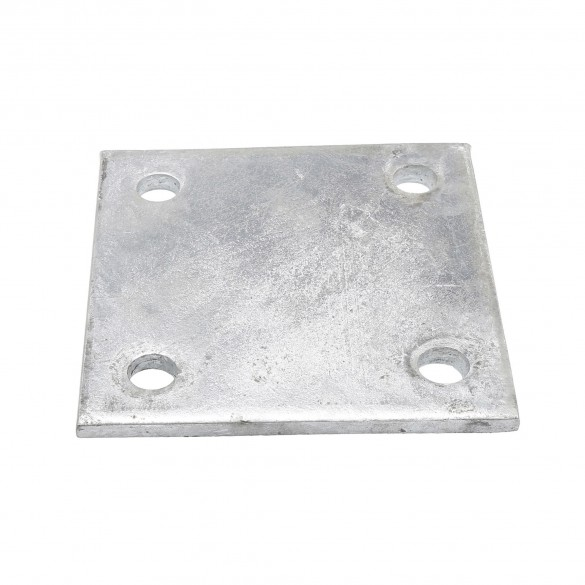 """Chain Link 3/8"""" x 6"""" x 6"""" Weldable Surface Mount Floor Flange - Base Plate (Galvanized Steel)"""