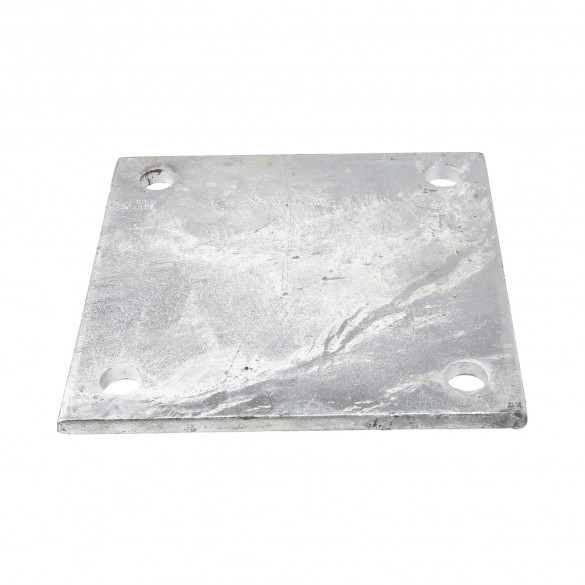 """Chain Link 3/8"""" x 8"""" x 8"""" Weldable Surface Mount Floor Flange - Base Plate (Galvanized Steel)"""