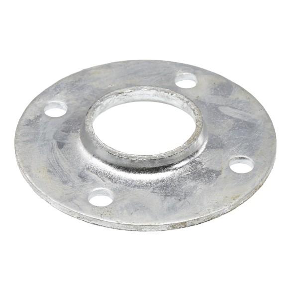 "Chain Link 1 5/8"" Weldable Surface Mount Floor Flange - Round Disk Flange (Pressed Steel)"