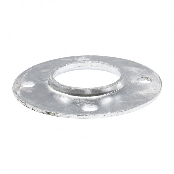 "Chain Link 2 1/2"" [2 3/8"" OD] Surface Mount Flange - Round Disk Flange (Pressed Steel)"