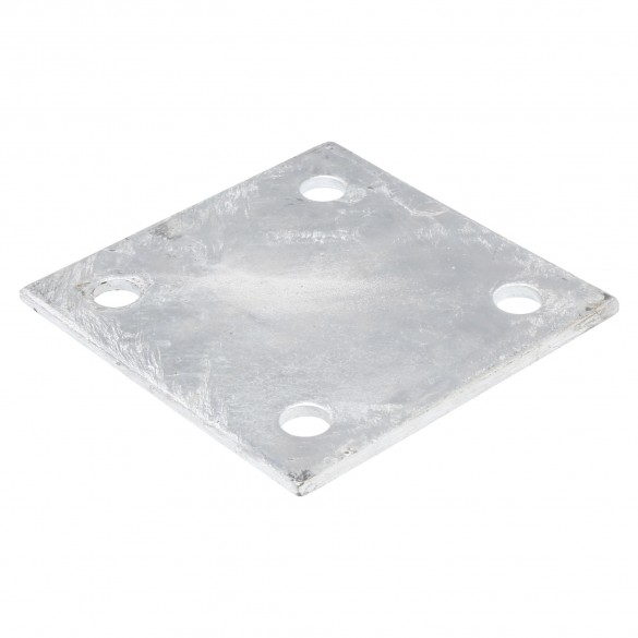 """Chain Link 6"""" x 6"""" x 1/4"""" Square Weldable Surface Mount Floor Flange Base Plate (Galvanized Steel)"""