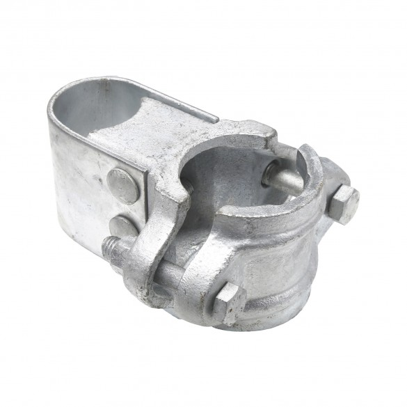 "Chain Link 2 1/2"" [2 3/8"" OD] Industrial Gate Box Hinge - Butt Hinge (Galvanized Cast Steel)"