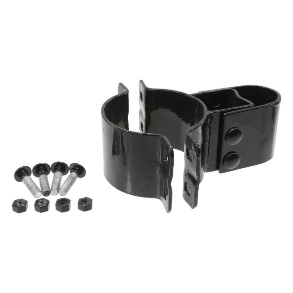 "Chain Link 4"" [4"" OD] Black Industrial Box Hinge - Butt Hinge (Pressed Steel)"