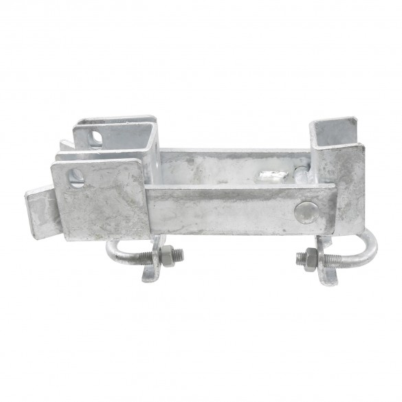 """Chain Link 1 5/8"""" [1 5/8"""" OD] or 2"""" [1 7/8"""" OD] Double Drive Industrial Commercial Grade Fulcrum Gate Frame Latch (Galvanized Pressed Steel)"""