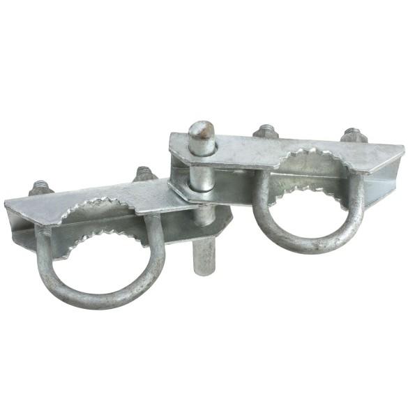 "2 1/2"" Industrial Offset Hinge Pressed Steel (Fits 2 3/8"" OD)"