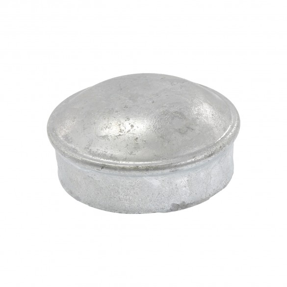 "3"" Galvanized Steel Dome External Round Post Caps (Fits 2 7/8"" OD)"