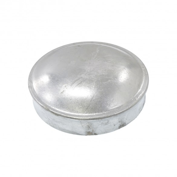 "4 1/2"" Galvanized Steel Dome External Round Post Caps (Also Fits SCH40 4 1/2"" OD Pipe)"