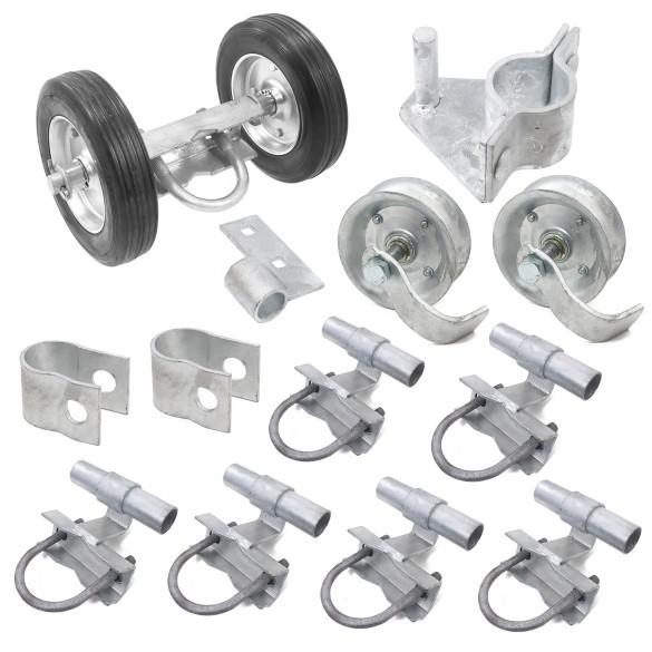 Chain Link Rolling Gate Hardware Kit for Rolling/Sliding Gates (Steel)