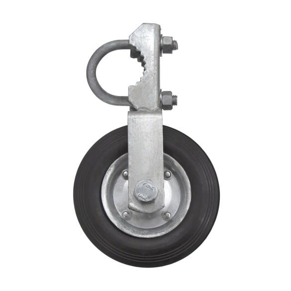 """6"""" Single Swing Gate Wheel For 1-5/8"""" or 2"""" [1-7/8"""" OD] Gate Frame"""