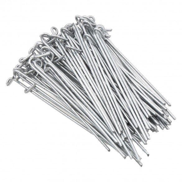 """Chain Link 6 1/2"""" Long Fence Ties [100 Quantity] for 1 5/8"""" and 2"""" 1 7/8"""" OD] Posts - Fence Preties (Steel)"""