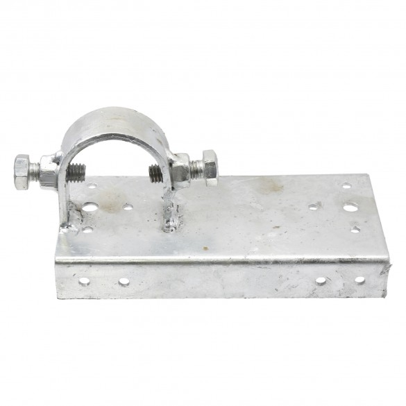 """Chain Link 1 5/8"""" x 6"""" Wooden Fence to Post End Adapter (Galvanized Pressed Steel)"""