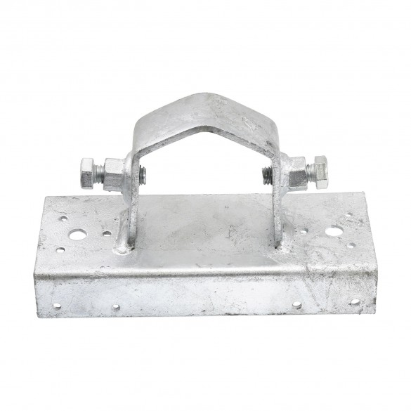 """Chain Link 2 1/2"""" [2 3/8"""" OD] x 6"""" Wooden Fence to Post Heavy-Duty Special Line Adapter (Galvanized Pressed Steel)"""