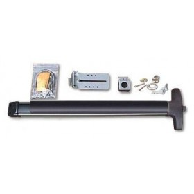 "Chain Link DAC Superior Detex 36"" Exit Bar Kit w/ Silver Adjustable Mounting Plate and Lock Box - Exit Alarm Bar (Stainless Steel)"