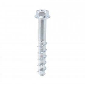 "Chain Link 1/2"" x 4"" Zinc-Plated Screw Anchor Bolt (Carbon Steel)"