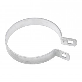 "Chain Link 4"" Brace Band [12 Gauge] - Rail End Band (Galvanized Steel)"