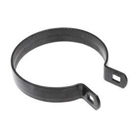 "Chain Link 4"" Black Beveled Brace Band [12 Gauge] - Rail End Band (Galvanized Steel)"