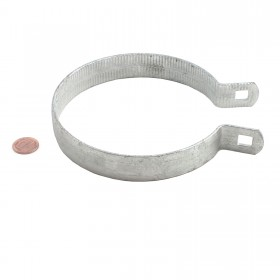 "Chain Link 4 1/2"" Beveled Brace Band [12 Gauge] - Rail End Band (Galvanized Steel)"