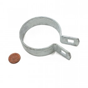 "Chain Link 2"" [1 7/8"" OD] Brace Band [12 Gauge] - Rail End Band (Galvanized Steel)"