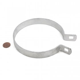 "Chain Link 4 1/2"" Brace Band [12 Gauge] - Rail End Band (Galvanized Steel)"