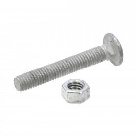 "Chain Link 3/8"" x 2 1/2"" Carriage Bolt & Nut (Galvanized Steel)"