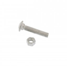 "Chain Link 3/8"" x 2"" Carriage Bolt & Nut (Galvanized Steel)"