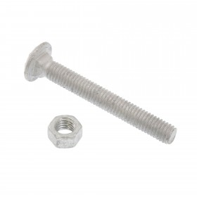 "Chain Link 3/8"" x 3"" Carriage Bolt & Nut (Galvanized Steel)"