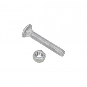 "Chain Link 5/16"" x 2"" Carriage Bolt & Nut (Galvanized Steel)"