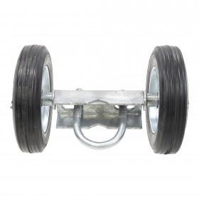 "Chain Link Double Wheel Carrier w/ 6"" Solid Rubber Wheels for Sliding Gates - Gate Rut Runner (Galvanzied Steel)"