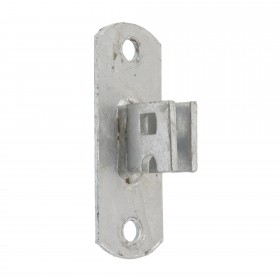 Chain Link Heavy-Duty Wall Mount Drop Fork Bracket - Wood Post Fork Latch Hanger (Galvanized Pressed Steel)