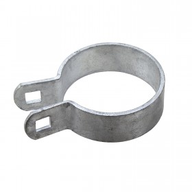 "Chain Link 2 1/2"" [2 3/8"" OD] Heavy Brace Band [11 Gauge] - Rail End Band (Galvanized Steel)"