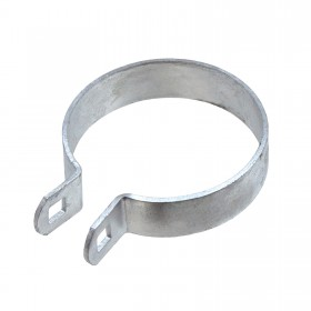 "Chain Link 3 1/2"" Heavy Brace Band [11 Gauge] - Rail End Band (Galvanized Steel)"