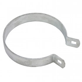 "Chain Link 4 1/2"" Heavy Brace Band [11 Gauge] - Rail End Band (Galvanized Steel)"