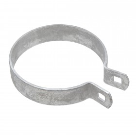"Chain Link 4"" Heavy Brace Band [11 Gauge] - Rail End Band (Galvanized Steel)"