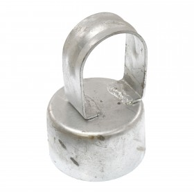 "Chain Link 2 1/2"" [2 3/8"" OD] x 1 5/8"" [1 5/8"" OD] Top Rail Eye Top Loop Cap - Line Post Top Cap (Galvanized Steel)"