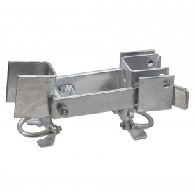 """Chain Link 1 3/8"""" Fulcrum Double Drive Residential Double Gate Latch Commercial Grade (Galvanized Pressed Steel)"""