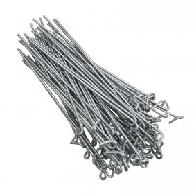 "Chain Link 8 1/4'' Long Fence Ties [100 Quantity] for 2 1/2"" [2 3/8"" OD] Posts - Fence Preties (Steel)"