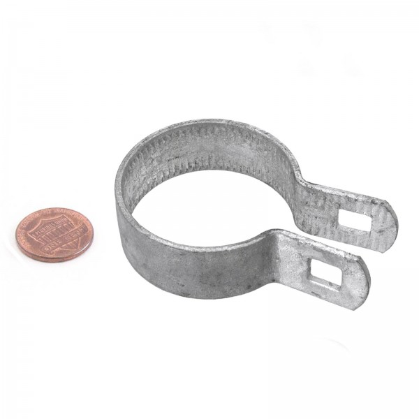 "2"" Beveled Brace Band Galvanized Steel (Fits 1 7/8"" OD)"