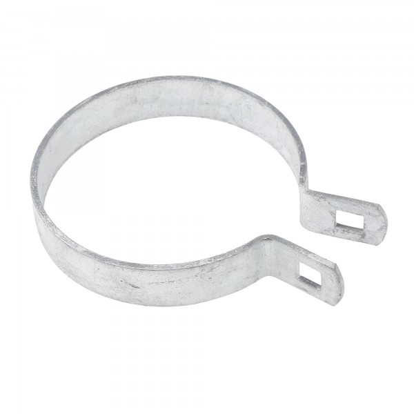 "Chain Link 3 1/2"" Brace Band [12 Gauge] - Rail End Band (Galvanized Steel)"