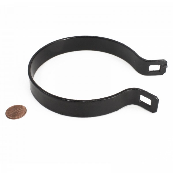 "4"" Black Beveled Brace Band / Rail End Band"