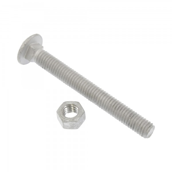 "3/8"" x 3 1/2"" Carriage Nut and Bolt"