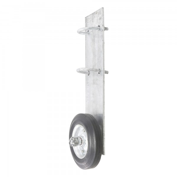 """Chain Link Bolt-On Cantilever Gate Wheel Helper for 1 5/8"""" and 2"""" [1 7/8"""" OD] Gate Frames (Galvanized Steel)"""