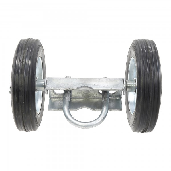 "Double Wheel Carrier - Includes 6"" Solid Rubber Wheels Gate Rut Runner"